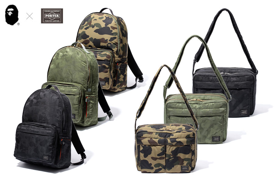 Camo runway boyz for Bape x porter backpack