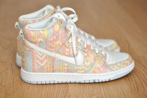low priced 881e9 22451 Liberty London x Nike Dunk High Skinny  Runway Boyz